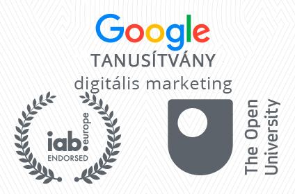 Google online marketing képzés tanúsítvány